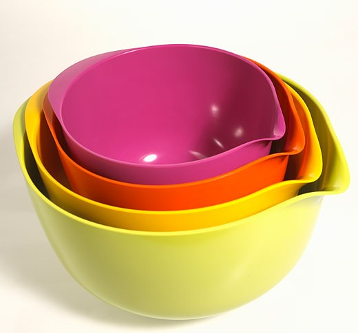 Stack of cooking bowls : Stock Photo