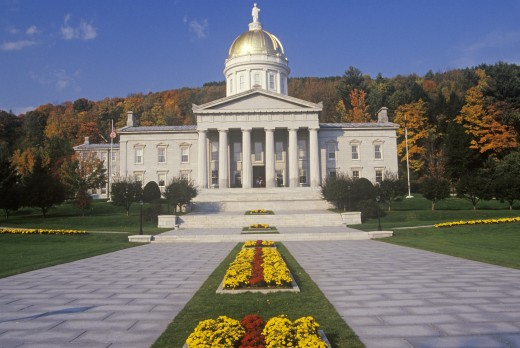 'State Capitol of Vermont, Montpelier' : Stock Photo