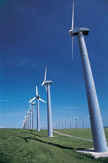 Wind Turbines, California, USA : Stock Photo