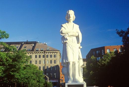 'Statue of Christopher Columbus, Boston, Massachusetts' : Stock Photo