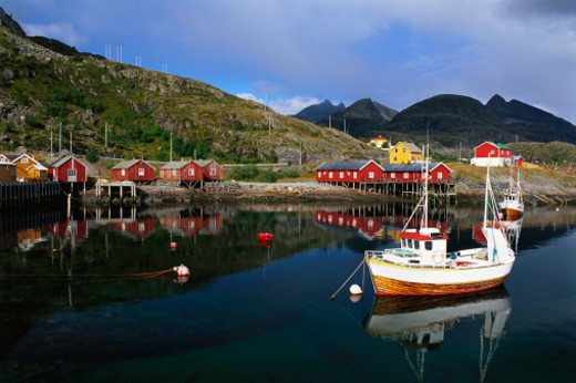 Tin Fishing Village, Lofoten Islands, Norway : Stock Photo
