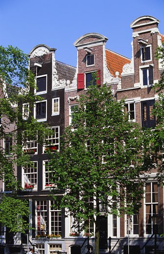 Townhouses in Keizersgracht, Amsterdam, Netherlands : Stock Photo