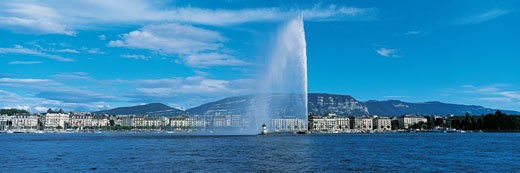 Jet d'Eau, Geneva, Switzerland : Stock Photo