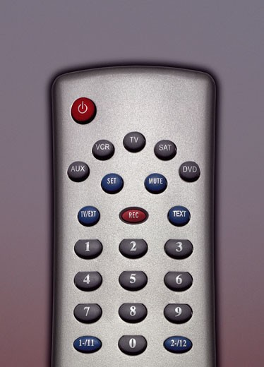 Stock Photo: 1598R-9960936 Close up of a Remote Control