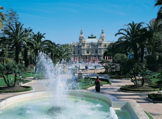 Stock Photo: 1598R-9963258 Grand Casino and Formal Garden, Monte Carlo, Monaco