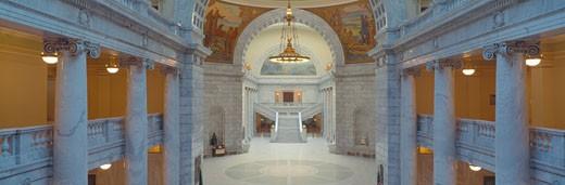 'Interior of Utah State Capitol, Salt Lake City, Utah' : Stock Photo
