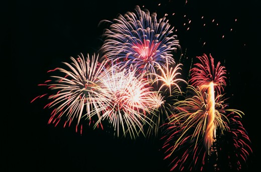 Firework Display at Night : Stock Photo