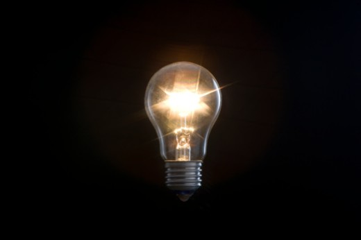 Stock Photo: 1598R-9968072 Electric light bulb