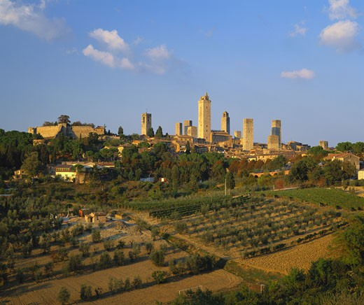 Stock Photo: 1598R-9968205 Medieval Town of San Gimignano, Tuscany, Italy