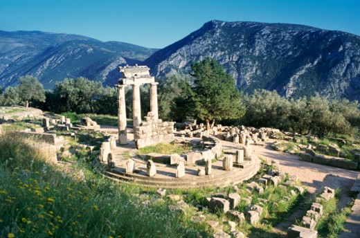Old Ruins, Delphi, Greece : Stock Photo