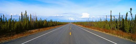 'Road to Wrangell, St. Elias National Park, Alaska' : Stock Photo