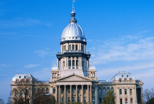 'State Capitol of Illinois, Springfield' : Stock Photo