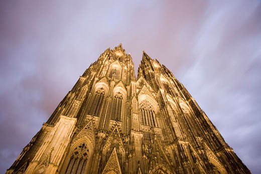 Stock Photo: 1598R-9973282 Germany, Cologne, Franken Platz Kolner Dom cathedral, low angle view