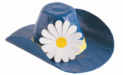 Stock Photo: 1598R-9976653 Hat, papier-mache, with flower