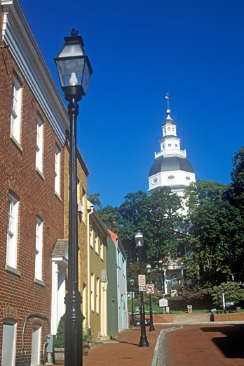 Stock Photo: 1598R-9978122 'State Capitol of Maryland, Annapolis'