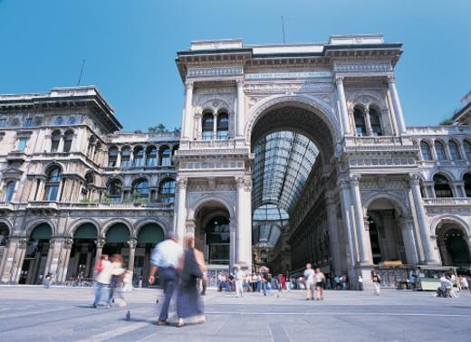 Galleria Vittorio Emmanuelle, Milan, Italy : Stock Photo