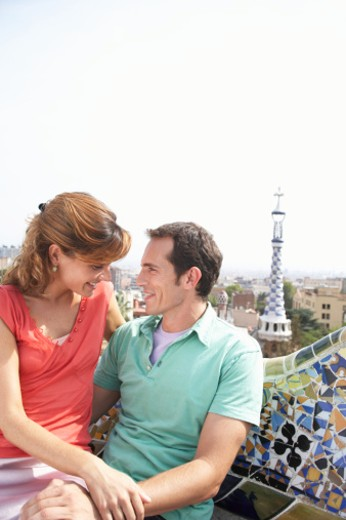 Stock Photo: 1598R-9979097 Parc Guell, Barcelona, Spain.