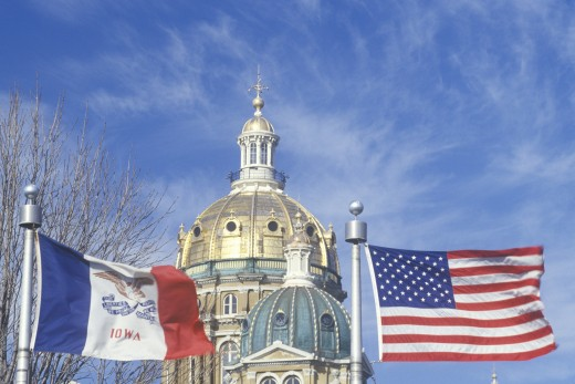 Stock Photo: 1598R-9980719 'State Capitol of Iowa, Des Moines'