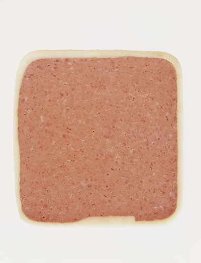 Stock Photo: 1598R-9982476 Studio Shot of a Slice of Meat Pate