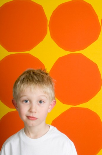 Stock Photo: 1598R-9983210 Boy (4-6), portrait