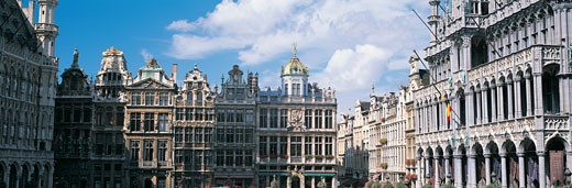 Buildings of Grand Market in Brussels, Belgium : Stock Photo