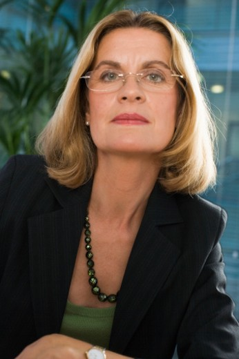 Mature businesswoman, portrait, close-up : Stock Photo