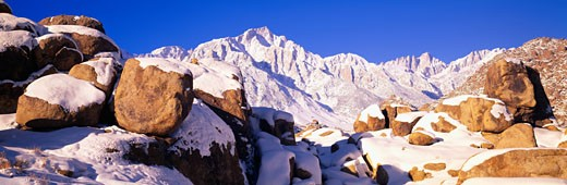 Stock Photo: 1598R-9984524 'Sunrise at 14,494 feet, Mount Whitney near Lone Pine, California'