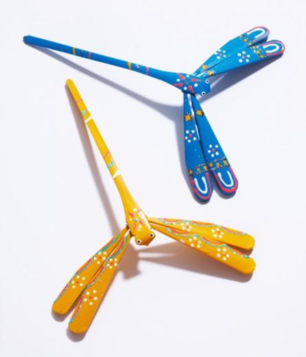 Folkcraft dragonfly : Stock Photo