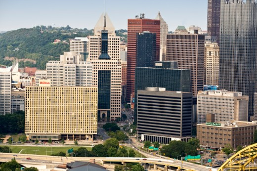 Stock Photo: 1598R-9988550 Downtown Pittsburgh