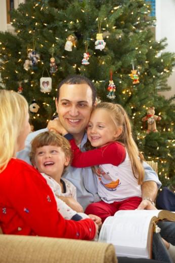 Stock Photo: 1598R-9988695 Family celebrating Christmas