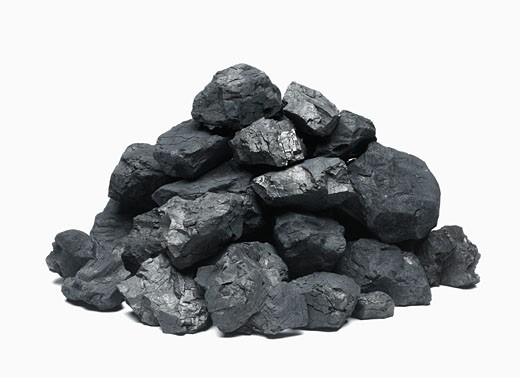Stock Photo: 1598R-9990186 Pile of coal