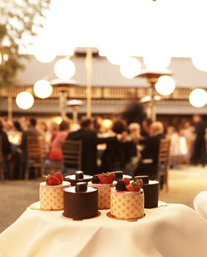 Gourmet desserts at wedding : Stock Photo