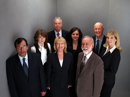 Group portrait of business people : Stock Photo