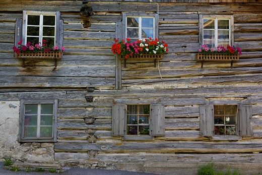Stock Photo: 1598R-9993197 the tyrolean village boden (austria). boden is located in the lechtaler alps