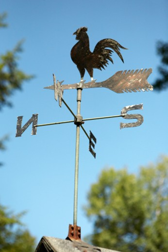 Stock Photo: 1598R-9993504 Weather Vane