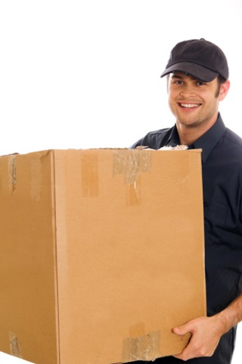 a courier or mover. : Stock Photo