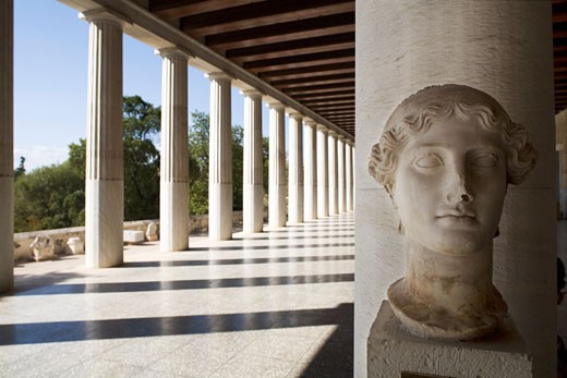 Stock Photo: 1598R-9994757 Greece. Athens. The Ancient Agora.