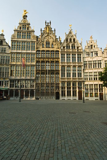 Stock Photo: 1598R-9995360 Grote Markt, Guild houses , Belgium, Antwerp