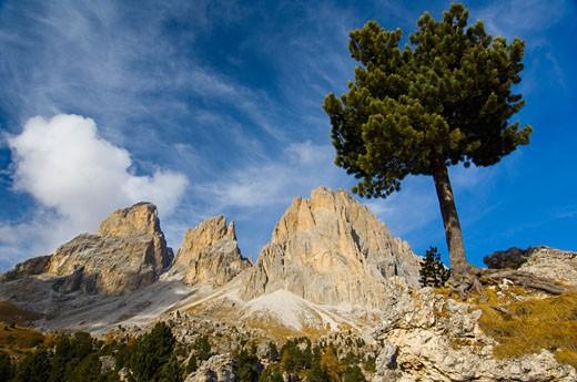 Gruppo di Sella, Dolomites, Italy : Stock Photo