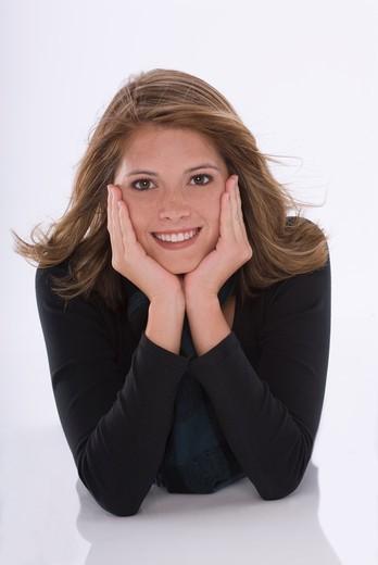 Teenager Girl Portrait Smiling : Stock Photo