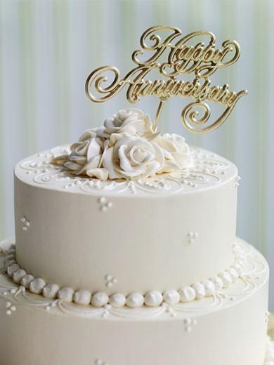 Anniversary Cake : Stock Photo