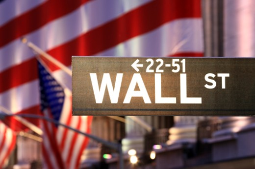 Wall Street sign : Stock Photo