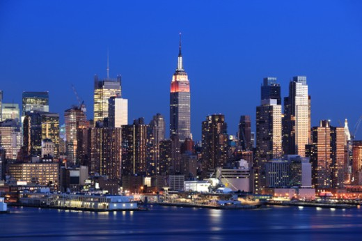 Stock Photo: 1598R-9999393 Midtown Manhattan, NYC, along the Hudson River