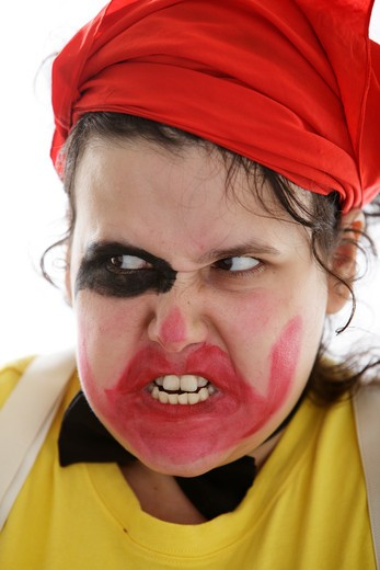 Stock Photo: 1598R-9999913 Crazy Clown