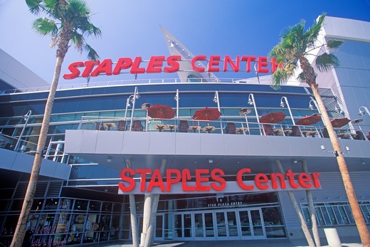 Staples Center, home to the NBA's Los Angeles Lakers, Los Angeles, California : Stock Photo