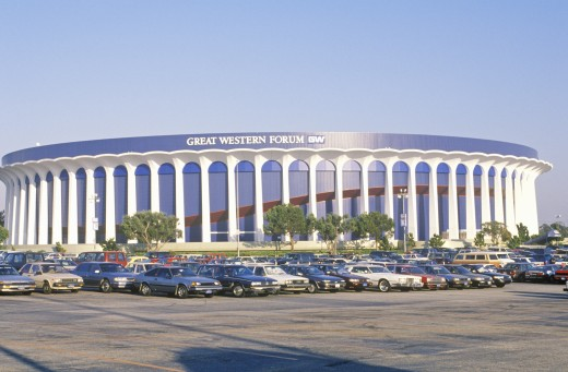 Great Western Forum, home of the LA Lakers, Inglewood, California : Stock Photo