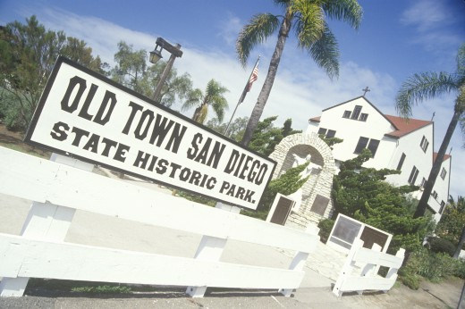 Old Town San Diego State Historic Park, San Diego, California : Stock Photo