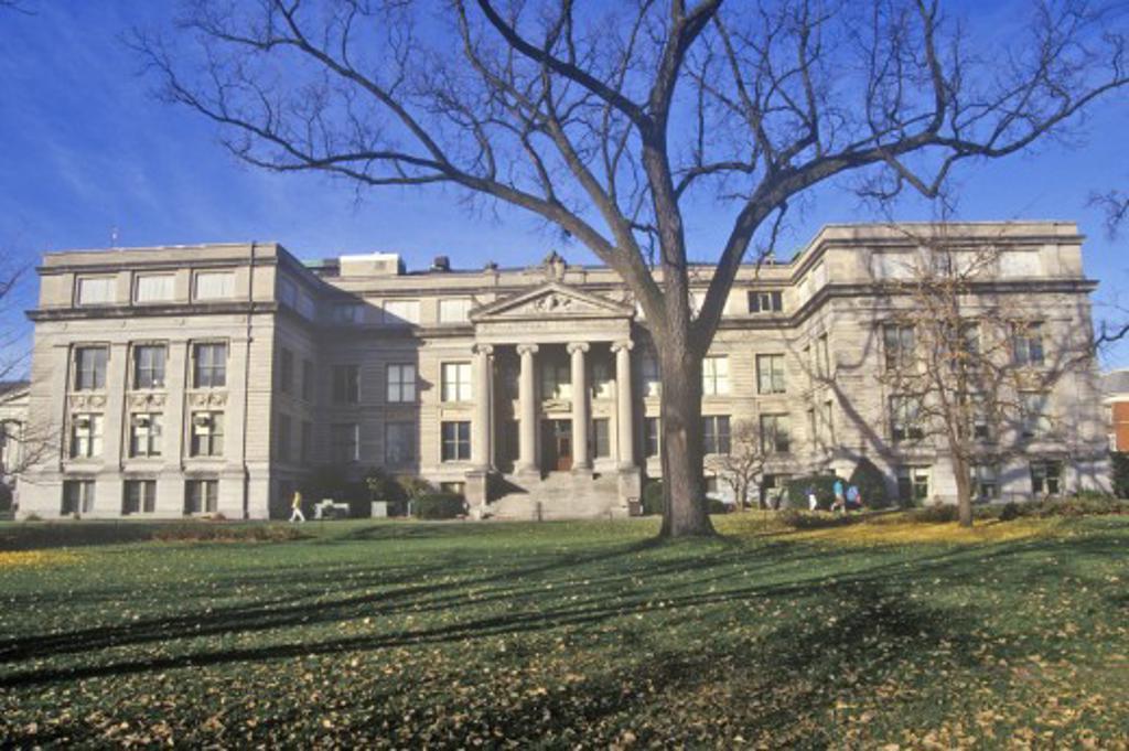 Stock Photo: 1599-10552 Natural Science Building at the University of Iowa, Iowa City, Iowa