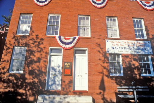 Babe Ruth's Birthplace and the Baltimore Orioles Museum, Baltimore, Maryland : Stock Photo