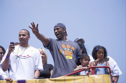 Stock Photo: 1599-13116 Victory parade for 2009 NBA Champion Los Angeles Lakers, June 16, 2009